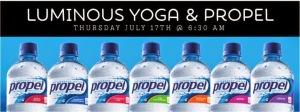 Fresh New Fit: Sunrise Yoga + Propel Water