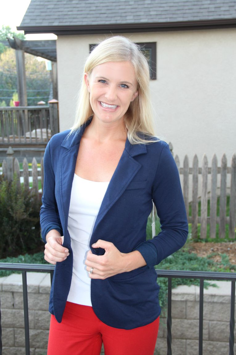 Kaylie Solid French Terry Blazer