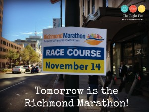 The Day Before the Richmond Marathon!