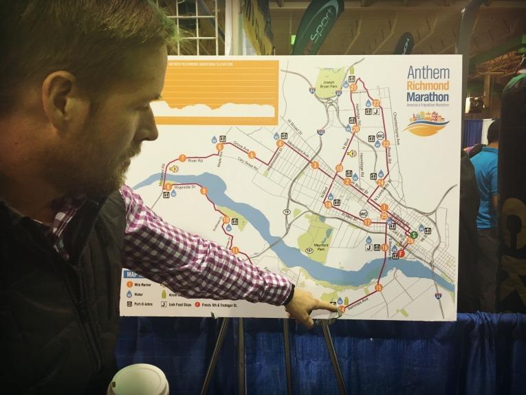 Richmond Marathon map