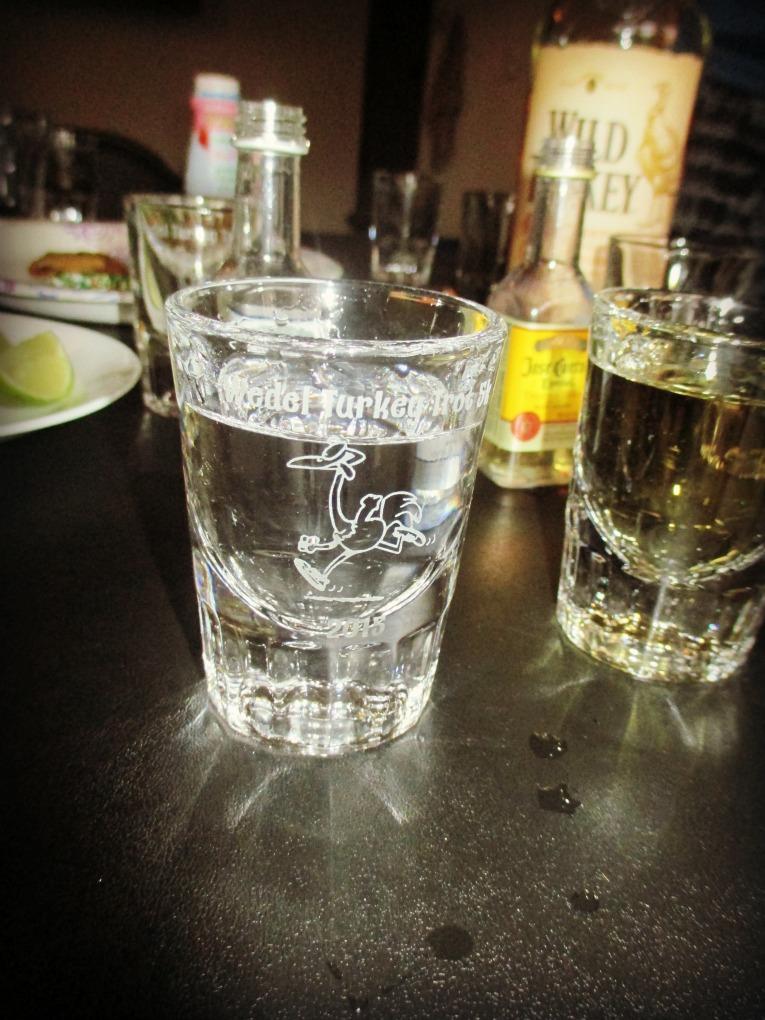 Turkey Trot Shot Glass