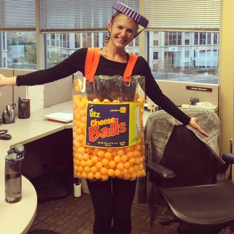 UTZ Cheeseballs Halloween costume