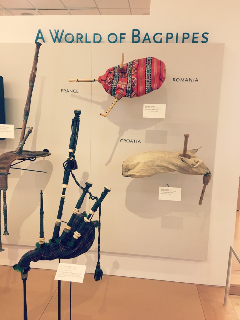 musical instrument museum bagpipes