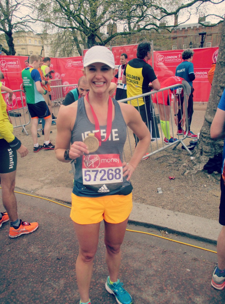 London Marathon finisher 2016