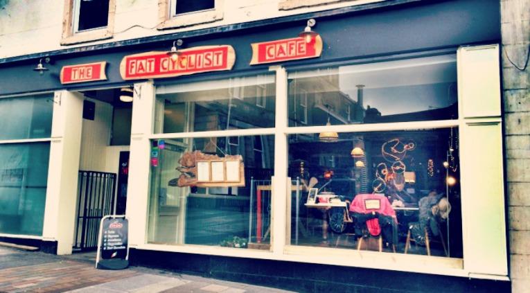 Fat cyclist cafe