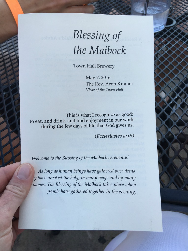 blessing of maibock