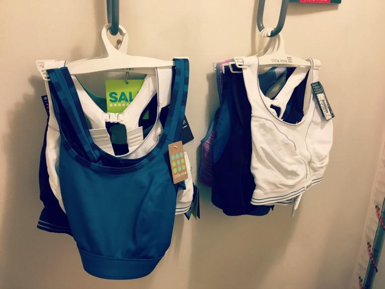 lots of sports bras