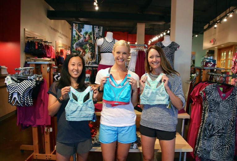 """f6b75a67f7 The coolest part about this preview event (and what you will experience at  Fit Fest) was the personalized bra fitting by a Title Nine """"bravangelist!"""