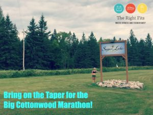 Bring on the Taper for the Big Cottonwood Marathon!