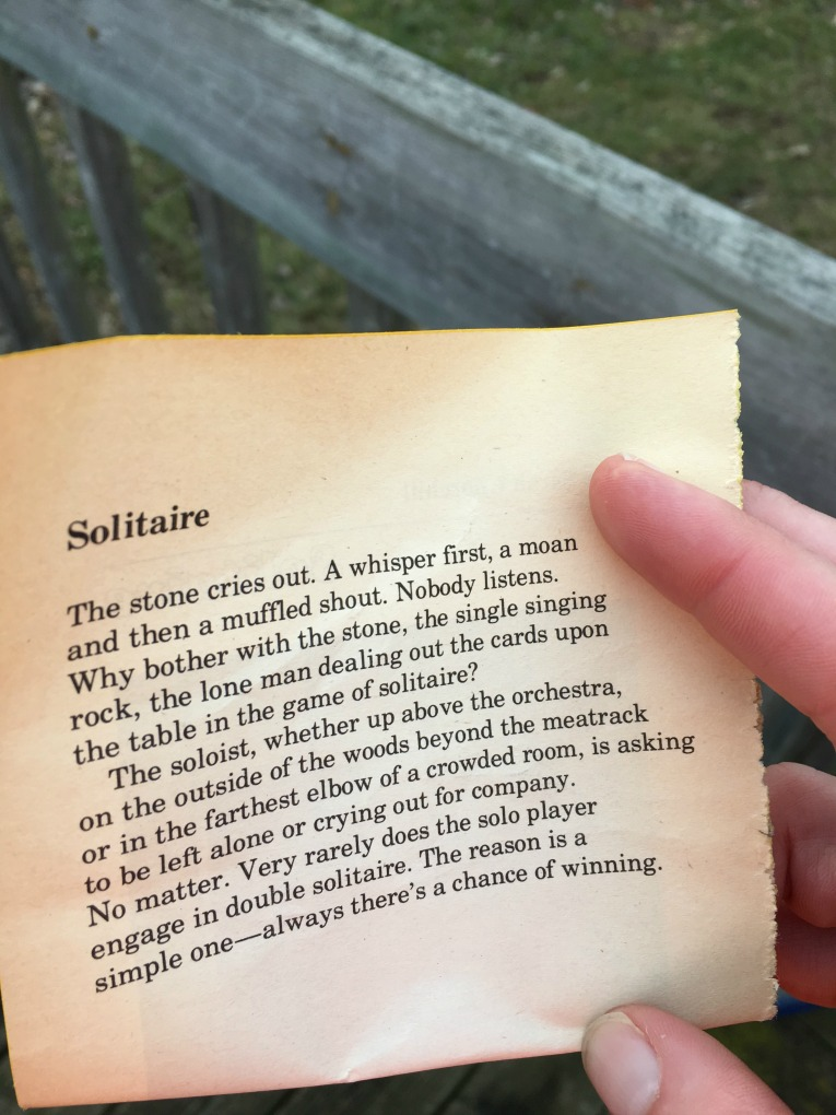 solitaire-poem