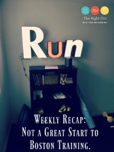 Weekly Recap: Not the best start to Boston training…