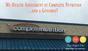 My Complete Nutrition Work-up and a Giveaway!