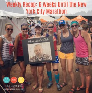 Weekly Recap: Six Weeks Until the New York City Marathon!