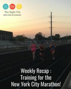 Weekly Recap: 7 Weeks Until the New York City Marathon!