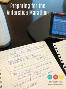 Preparing for the Antarctica Marathon
