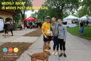 Weekly Recap: 13 Weeks Post Broken Leg